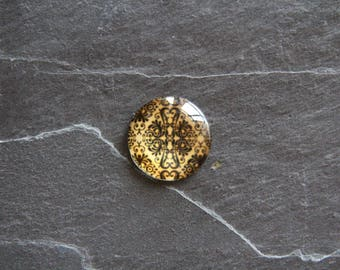 Cabochon 25mm glass baroque style