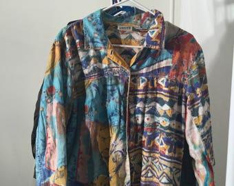 Vintage 90's shirt, colorful, fresh prince