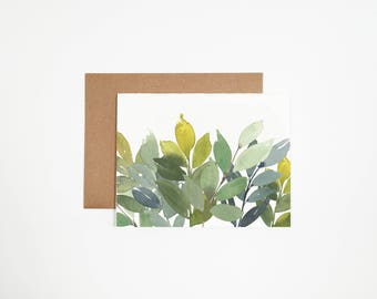 Leaves Greeting Card - Can Be Customized With Writing