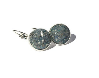 mermaid druzy, druzy earrings, lever back earrings, geode earrings, hypoallergenic, crystal earrings, under 10 dollars, druzy jewelry, aqua