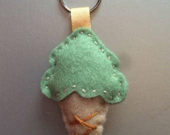 Keychain ice green and beige
