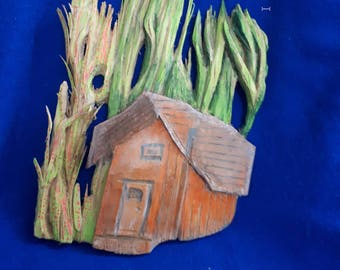 The House in the wood sculpture