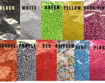 Styrofoam balls 8000 mini 2 mm 3 mm 4 mm Polystyrene Filler Foam Ball Beads Crunchy Slime Styrafoam DIY Slime Floam Arts Slime Supplies