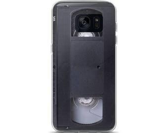 Samsung Case, Galaxy, S7, S8, S8+ S7 Edge, Phone Case, VHS Tape,