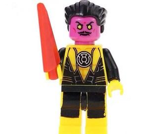 Sinestro yellow Lantern custom minifigure fits Lego Marvel DC Comics