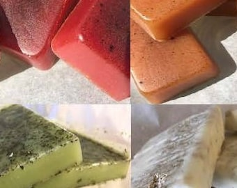 Choose your Sample! Pick any one of our soaps, sugar scrub cubes, or shower melts to try! Handmade By SterlingSoapCo