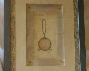 Framed post card