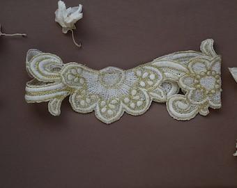 Wedding Garter Gold boho bridal Garters - UK Limited availability