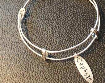 Sterling Silver Cusomized Bangle Bracelet
