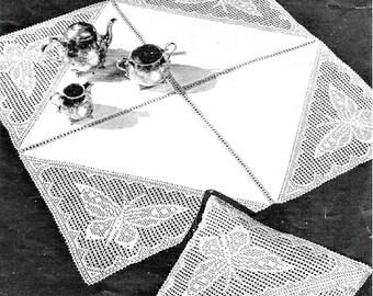 Weldons PDF Crochet Pattern, Butterfly Triangle Insertion
