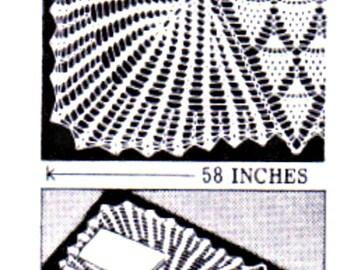 Pineapple Large Squrae Centrepiece, TV Cover, Tablecloth, PDF CROCHET Pattern ,