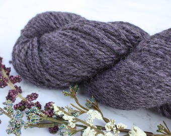 Hand Spun Purple Alpaca Yarn