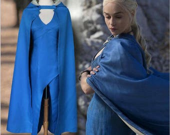 A Song of Ice and Fire Game of Thrones Daenerys Targaryen Cospaly Dress / Cape Daenerys Targaryen Costume