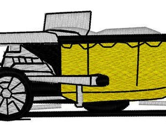 Dragster Car Embroidery File