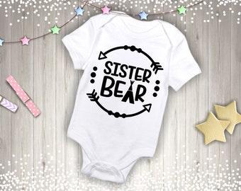 Sister Bear TeePee Onesie