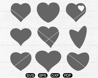 Heart svg, Heart Clipart, cricut, silhouette cut files commercial use