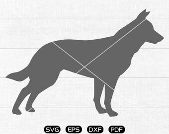 german shepherd svg, Dog Clipart, cricut, silhouette cut files commercial use