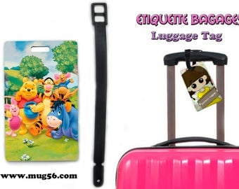 winnie the pooh and friends - disney luggage tag