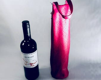 bottle bags made from recycled leather