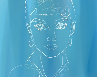 Audrey Hepburn Digital Art Print