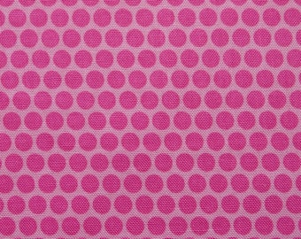 Riley Blake fabric in fuchsia pink with polka dots