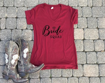 bride squad shirt, wifey shirt, engagement shirt, engaged top, bridal gift, bride gift, wedding gift, bridal shower gift, , engaged AF