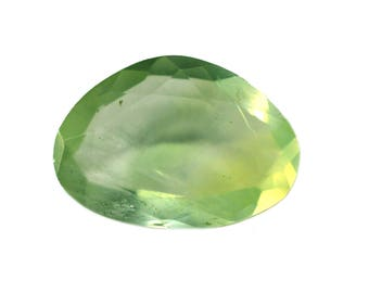Prehnite Natural Green Prehnite Both side Faceted Polki 4.35 cts. 10.5x15 mm 1 piece Loose Gemstone 4079