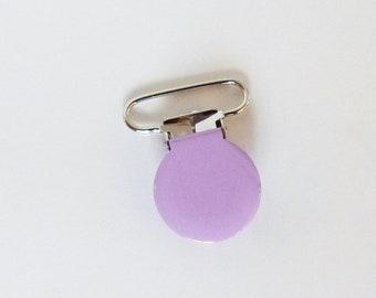 Attache tétine / sucette 36 mm - PARME - pince bretelle - clip - création bébé