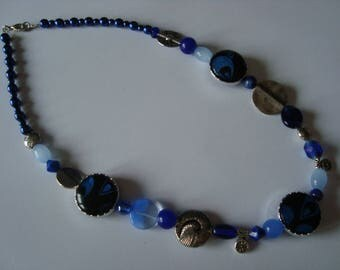 Different Necklace blue and Metal