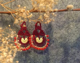 Ria Earrings in Red