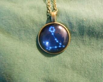Zodiac star Pisces necklace