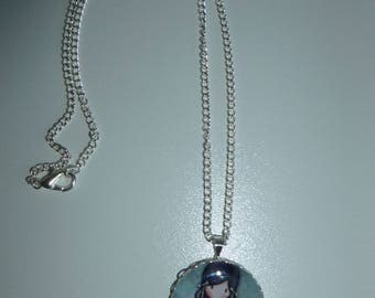 Choker necklace and pendant cabochon
