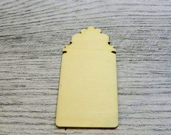 Tag 1037 a cut out of wood for your cards