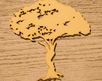 Tree 1205 embellishment wooden creations