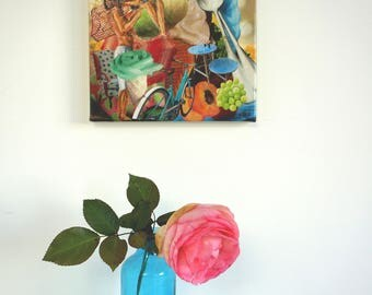 """Work of art for lovers, small canvas very """"Flirty"""""""