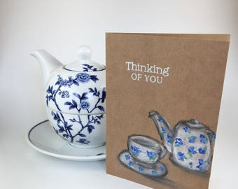 Thinking of you tea pot