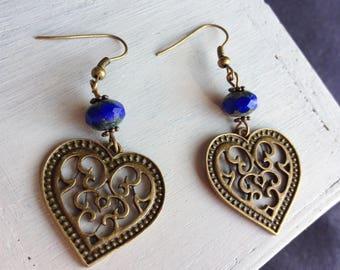 """Earrings """"Bohemian hearts"""""""