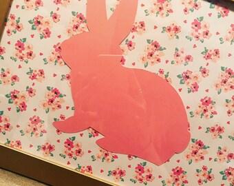 Floral Bunny Frame