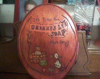 Wood burned plaque