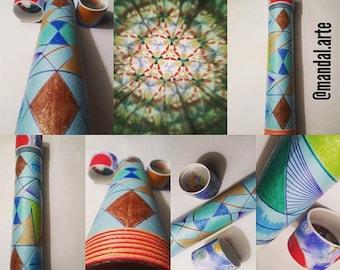 Handmade kaleidoscope of 30 cm x 5 cm, interchangeable view