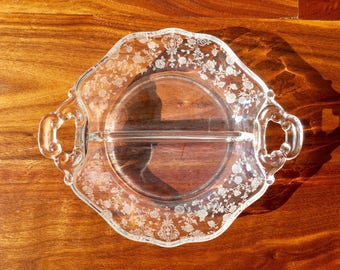 Etched Glass Dish by Cambridge