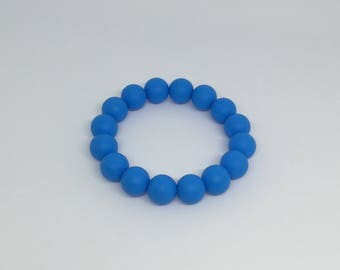 Blue silicone teething ring
