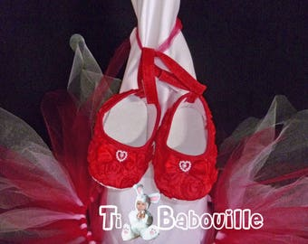 reborn baby ballerinas shoes red shoes size 0-3 months