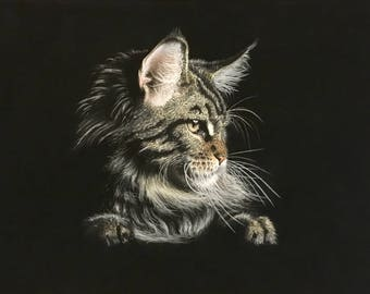 painting as a gift, a picture to order, a picture for an interior, animal art, a picture of a pastel,