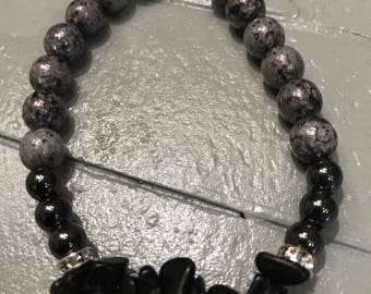 Black crystal bracelet