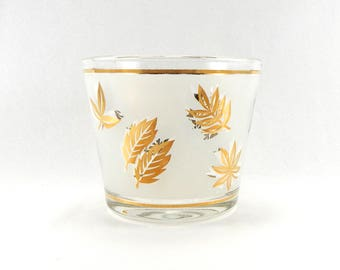 Libbey Golden Foliage Ice Bucket | Starlyte Ice Bucket | Mid Century Modern Barware | Mad Men Starlyte | Luxury Barware