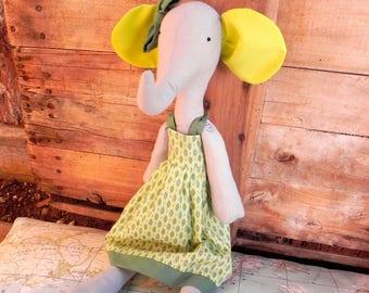 Elephant - Handmade rag doll