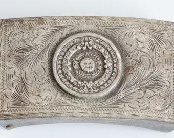 Aztec Inspired Belt Buckle, vintage