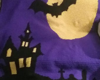 Haunted House Afghan Pattern