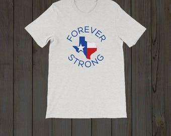 Come Hell or High Water Short Sleeve/Texas Strong / #texasstrong / Hurricane Harvey Relief Shirt / Texas Raised / Texas T Shirt